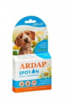 Ardap Spot on Zecken & Flohschutz für Hunde bis 10kg